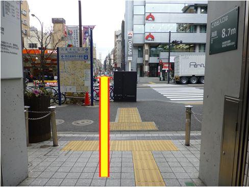 大江戸線麻布十番駅7番出口付近